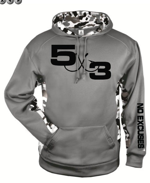 Gray and Black Urban Camo Hoodie (Preorder)