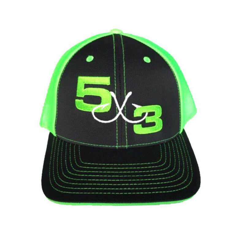 5X3 Bright Neon Green Fitted Hat