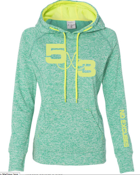 Women's Heather Two Color Hoodie (preorder)