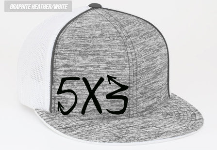 New Graffiti Logo 5X3 Flatbill Hats (preorder)