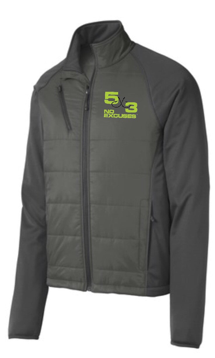 Hybrid Soft Shell Jacket (Gray and Black Available) PRE-ORDER