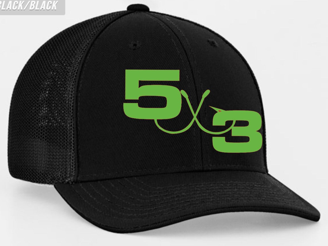 Limited edition fitted black with large neon logo (preorder)