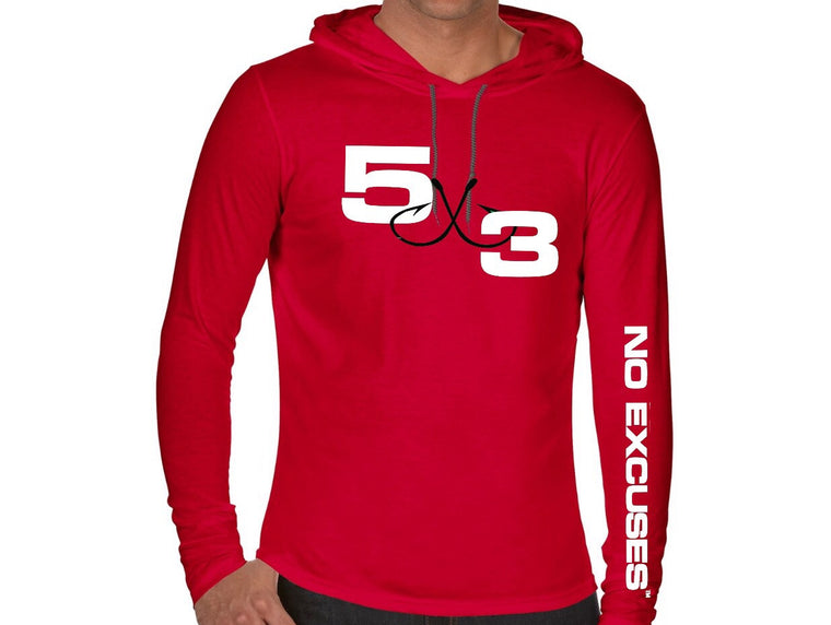 5X3 Red Hooded T-Shirt (Pre-Order)