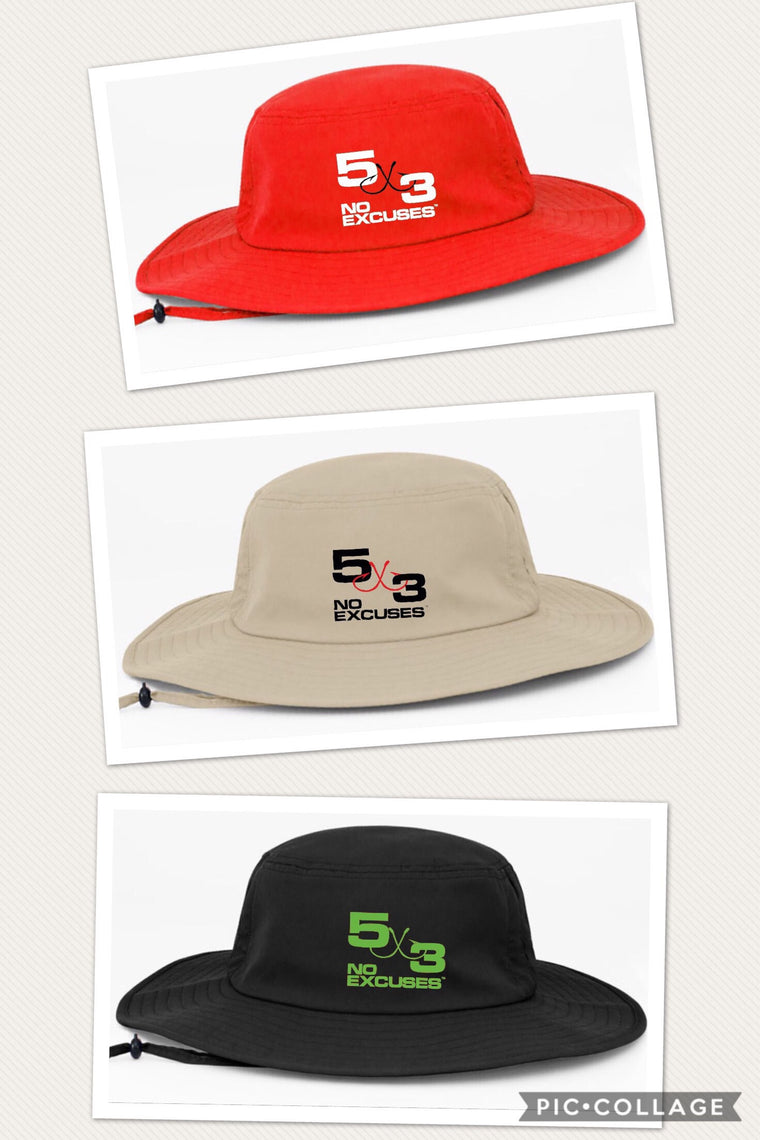 5X3 embroidered boonie hats.