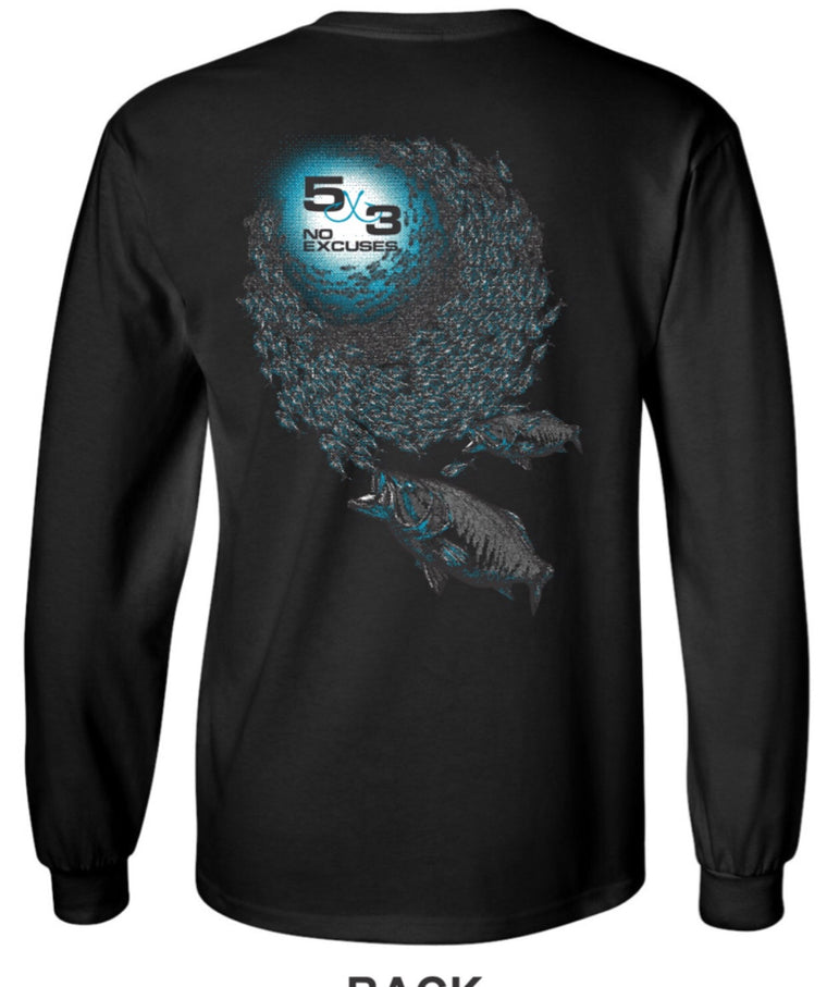 Feeding Frenzy Long Sleeve Cotton T-Shirt