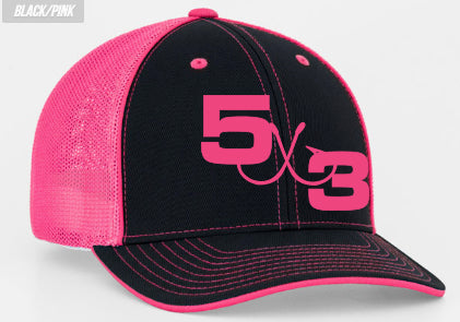 Hot Pink FItted Hat (preorder) - 5 x 3 Nation cdbecca3964