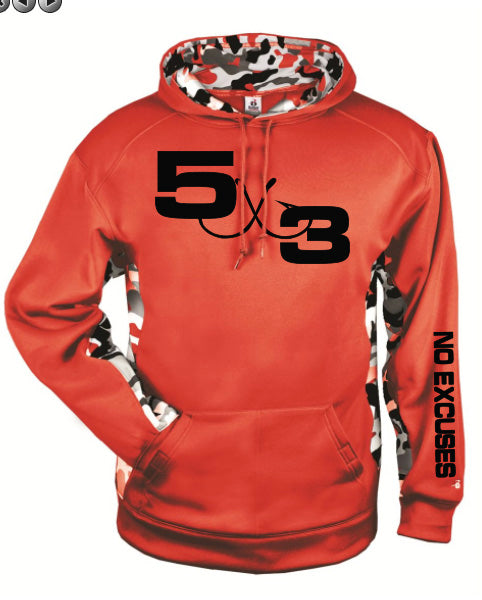 Red and Black Urban Camo Moisture wicking hoodie (preorder)
