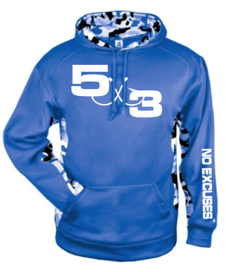Royal and White Urban Camo Hoodie (Preorder)