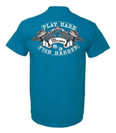 Play Hard Fish Harder Short Sleeve T-Shirt