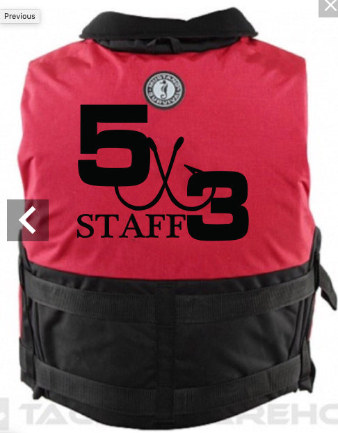 5X3 Staff Mustang Life Jacket (PREORDER)