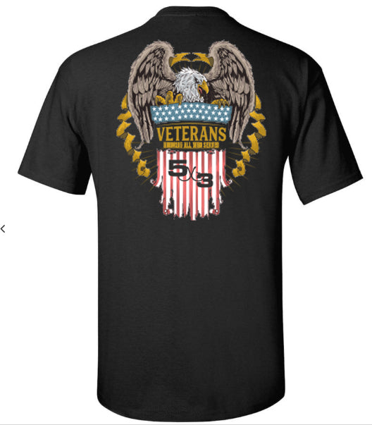 5X3 Veterans Day Shirt! Preorder long and short sleeve.