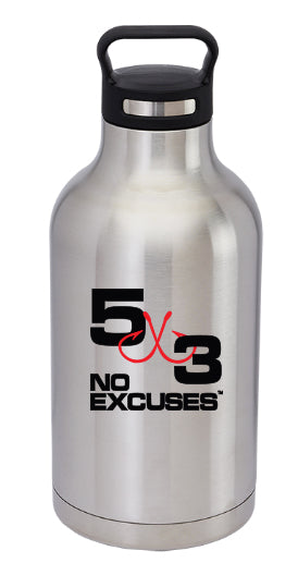 64 Oz Stainless Steel Growler (24 being made!)
