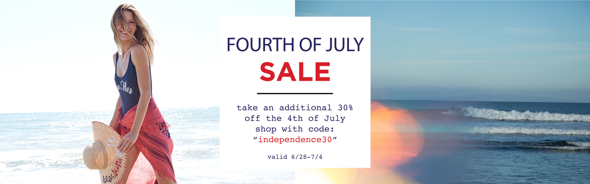 take an extra 30% off the 4th of July sale with code independece30