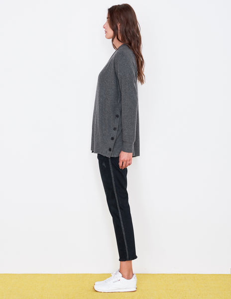 Sundry Side Buttons Cardigan