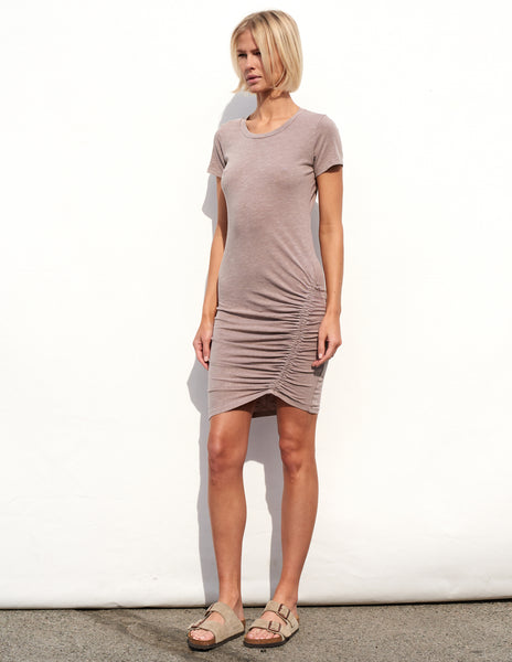 Sundry Slant Ruched Dress
