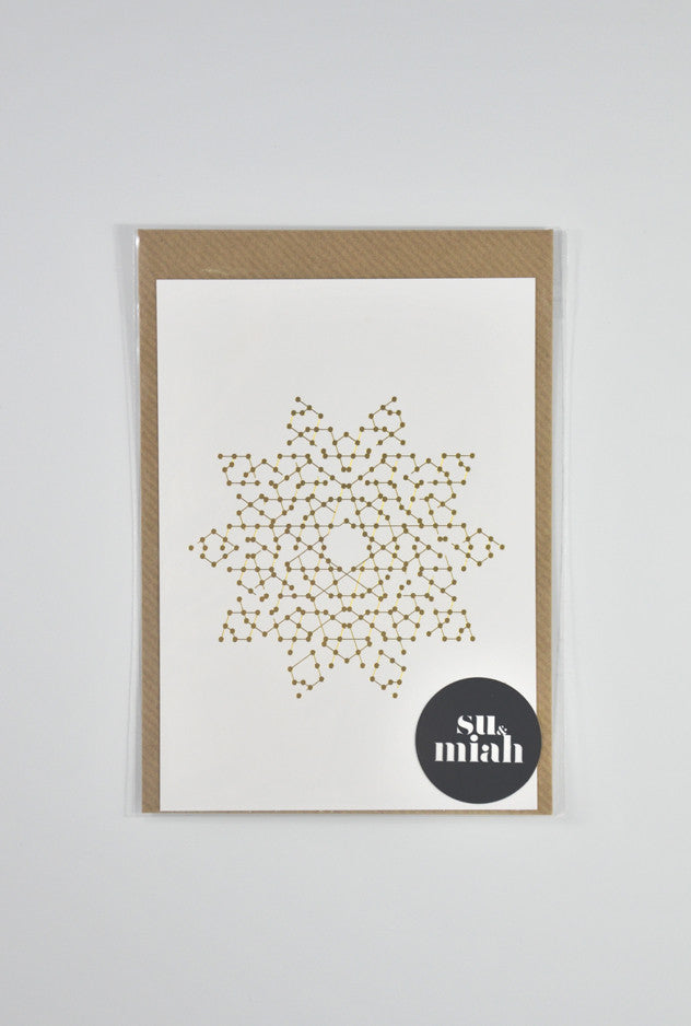 Gold Foil Star Postcard