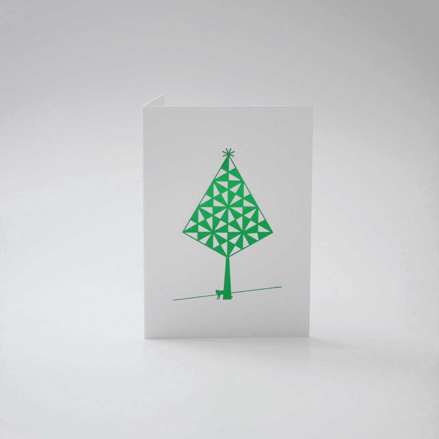 Mini Green Tree with Fox