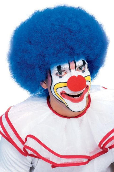 Deluxe Clown Afro in Blue