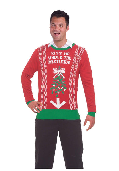 Kiss Me Under The Mistletoe Ugly Xmas Sweater