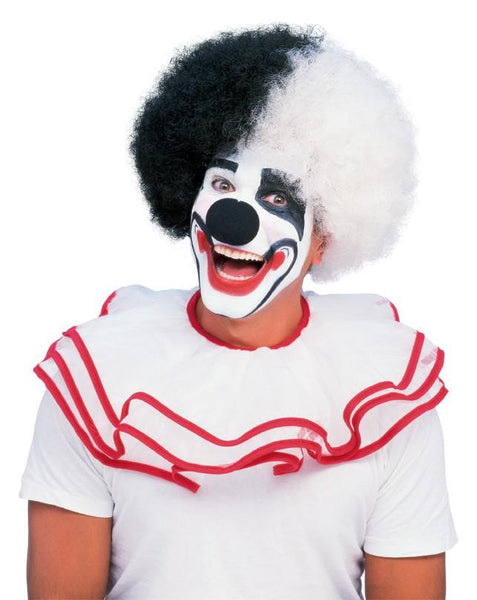 Deluxe Black and White Clown Afro