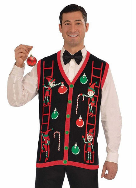 Decorating Elves Christmas Sweater Vest