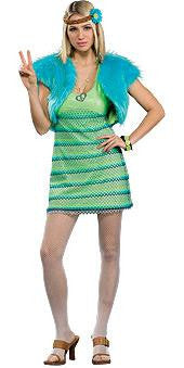 Green 60's Girl Costume