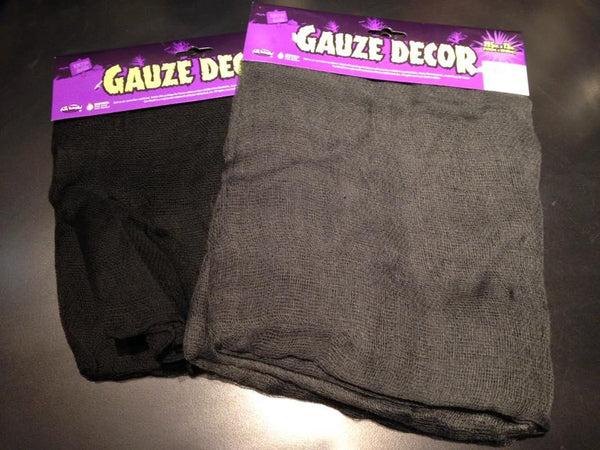 Gauze Decorative Cloth in Black or Grey