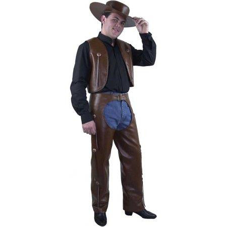 Brown Chaps and Vest