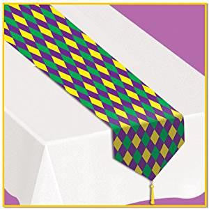 Mardis Gras Table Runner