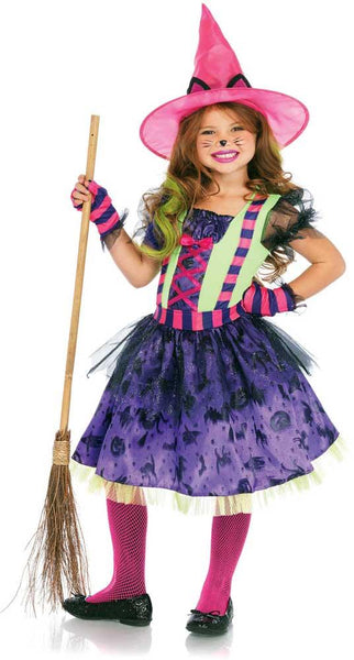 Black Cat Witch Kids Costume