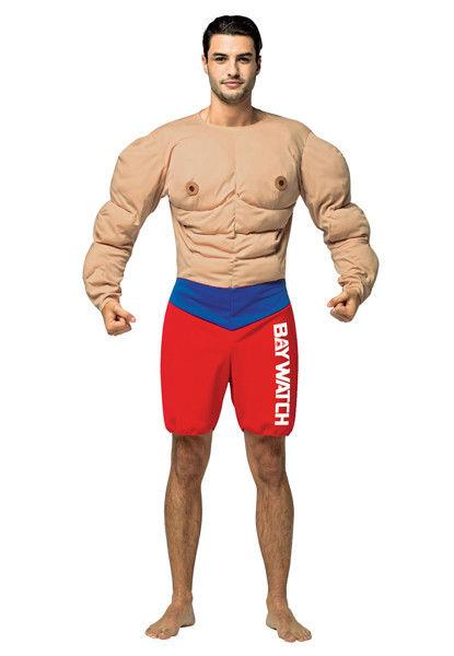 Baywatch Muscle Chest Costume