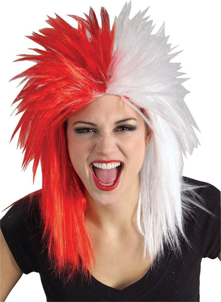 Sports Fanatic Wig - Red and White