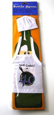 Still Cooking at 40 Bottle Apron