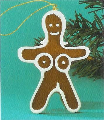 Ginger Woman Erotic Christmas Ornament