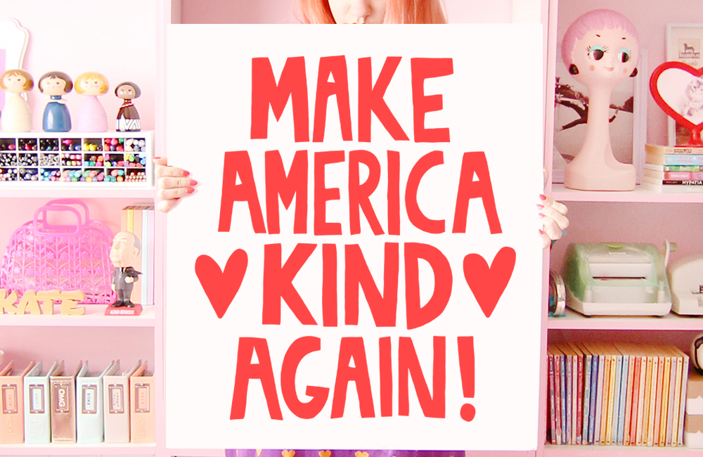 Make America Kind Again printable sign