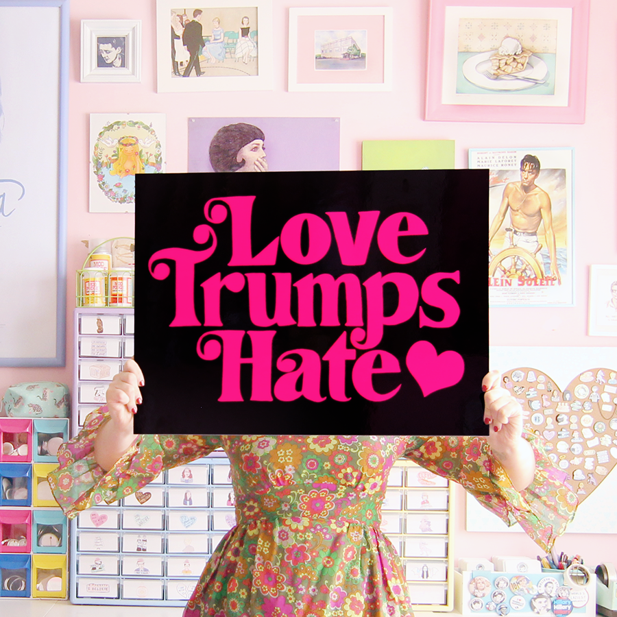 Love Trumps Hate poster