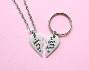 BFF pendant and necklace set for you and your cat