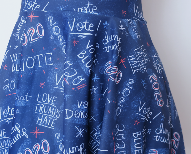 2020 election skater dress