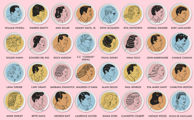 Classic movie star button set (you pick six!)