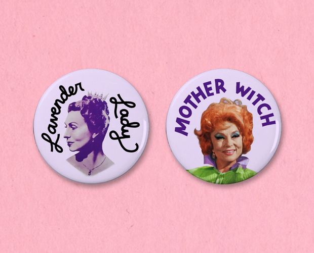 Agnes Moorehead button or magnet set