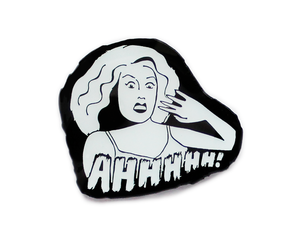 Glow in the dark Horror movie scream enamel lapel pin