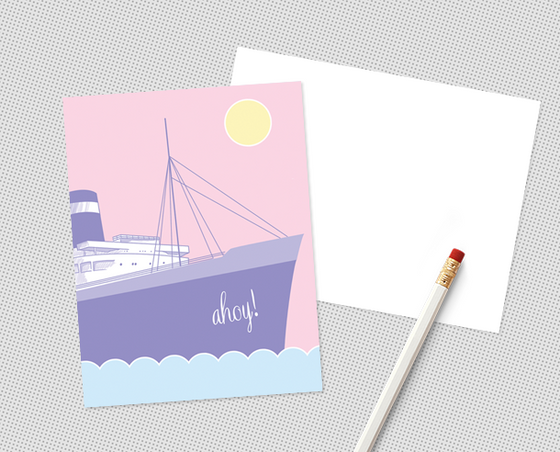 Ahoy postcard set
