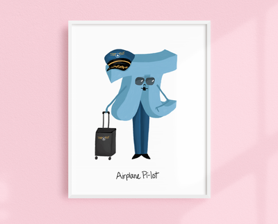 Airplane Pi-lot art print