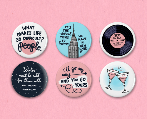 An Affair to Remember button set