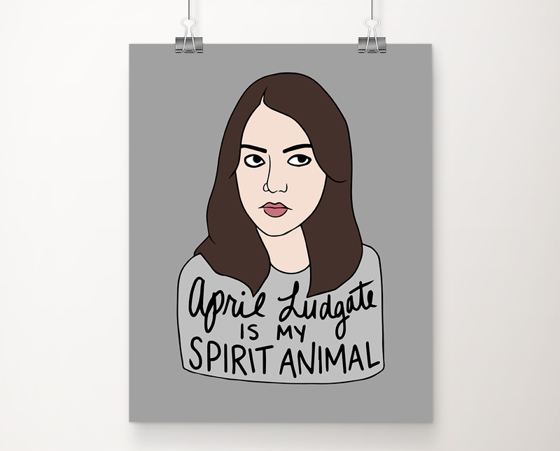 April Ludgate art print