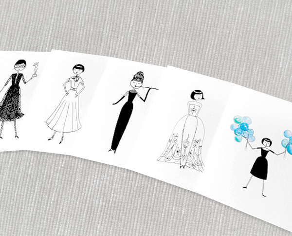 Printable Audrey Hepburn note cards