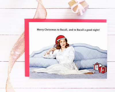 Merry Christmas to Bacall Christmas card