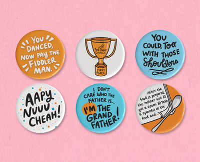 Bachelor Mother button set