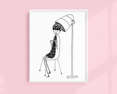 Eloise at the beauty parlor art print