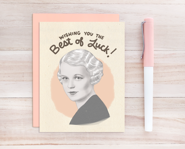 Edna Best good luck card